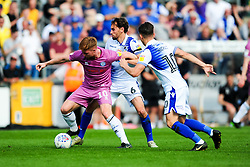 Callum Camps of Rochdale is challenged by Edward Upson of Bristol Rovers and Tom Nichols of Bristol Rovers - Mandatory by-line: Ryan Hiscott/JMP - 22/04/2019 - FOOTBALL - Memorial Stadium - Bristol, England - Bristol Rovers v Rochdale - Sky Bet League One