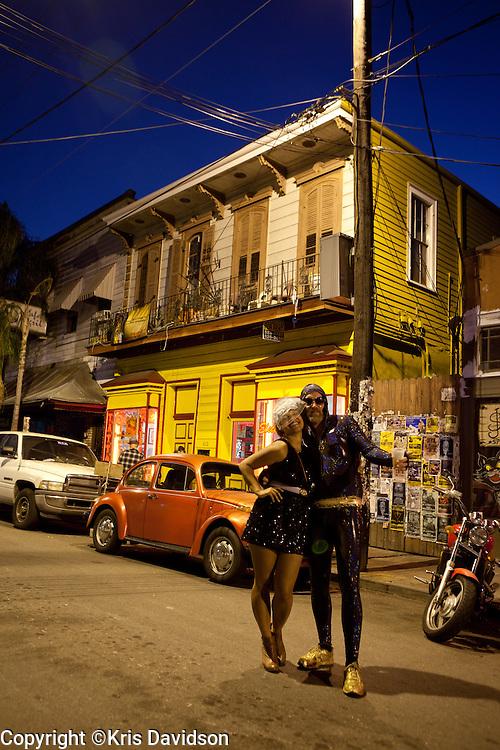 Revelers on Frenchmen Street in New Orleans.