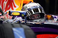 Sebastian Vettel (GER) Red Bull Racing RB10.<br /> United States Grand Prix, Friday 31st October 2014. Circuit of the Americas, Austin, Texas, USA.