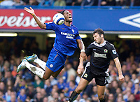 Photo: Daniel Hambury.<br />Chelsea v Blackburn Rovers. The Barclays Premiership.<br />29/10/2005.<br />Chelsea's Didier Drogba is fouled by Blackburn's Zurab Khizanishvili.