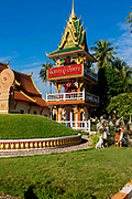 A stuppa on the grounds  of Wat Ong Teu, Vientiane, Laos.