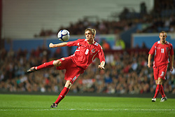 BIRMINGHAM, ENGLAND - Monday, October 13, 2008: Wales' Andy King in action against England during the UEFA European Under-21 Championship Play-Off 2nd Leg match at Villa Park. (Photo by Gareth Davies/Propaganda)