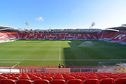 A general view inside Rotherham United AESSEAL stadium before the EFL Sky Bet League 1 match between Rotherham United and Bristol Rovers at the AESSEAL New York Stadium, Rotherham, England on 18 January 2020.