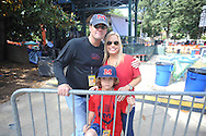 Mississippi fans Ford, Sonya, and Jack Dye in the Grove at the University of Mississippi in Oxford, Miss. on Friday, October 3, 2014.  Mississippi plays host to Alabama on Saturday. (AP Photo/Oxford Eagle, Bruce Newman)