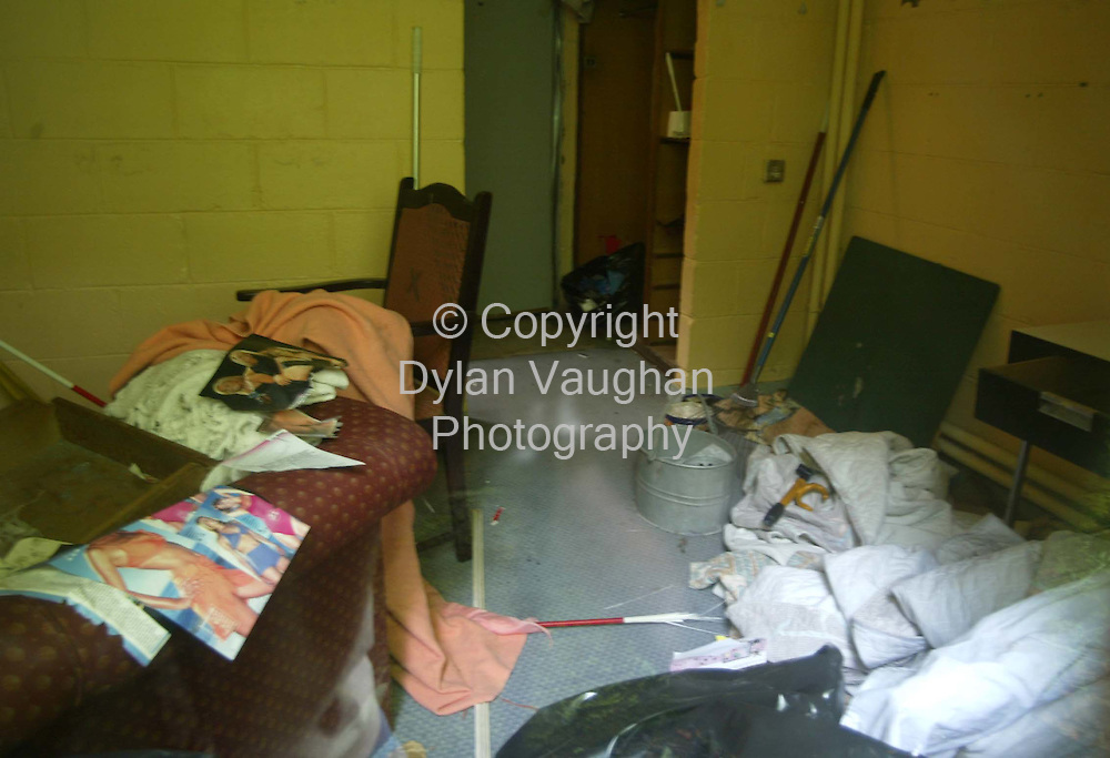 3/7/2003.One of the rooms at the staff accomodation at the McEniff Ard Ri Hotel in Waterford..Picture Dylan Vaughan