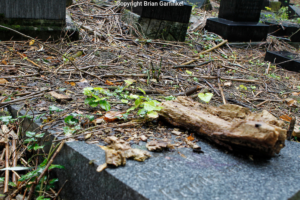 Grave stones in the Jewish Cemetery in Povazka Bystrica, Slovakia on Sunday July 3rd 2011. (Photo by Brian Garfinkel)