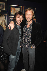 Left to right, singer JAMES BLUNT and SAM PELLY at a party to celebrate the publication of the 2007 Tatler Little Black Book held at Tramp, 40 Jermyn Street, London on 7th November 2007.<br />