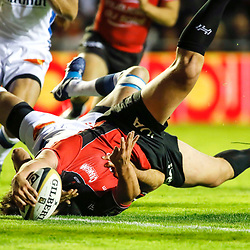 Laurent Delboulbes of Toulon scores his side's try during the Top 14 Play-offs match between RC Toulon and Castres Olympique on May 19, 2017 in Toulon, France. (Photo by Guillaume Ruoppolo /Icon Sport)