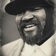 Gregory Porter @ the Waitrose vip area Cheltenham Jazz Festival . reportage ,lifestyle portrait photography , reportage ,lifestyle portrait photography ,