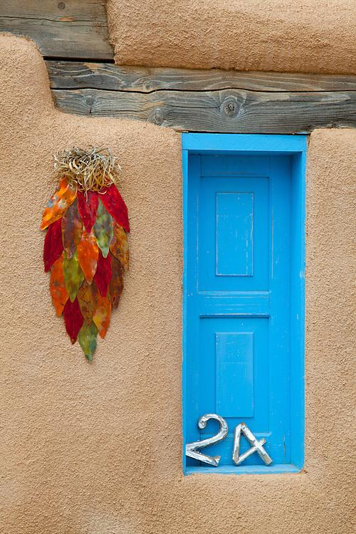 Blue window in Taos.