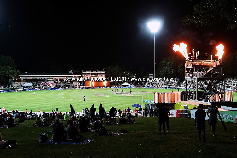 General view of Seddon Park during the One Day International cricket match - New Zealand Black Caps v South Africa played at Seddon Park, Hamilton, New Zealand on Sunday 19 February 2017.  Copyright photo: Bruce Lim / www.photosport.nz