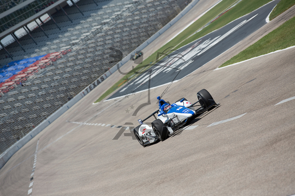 Ft WORTH, TX - JUN 08, 2012:  Takuma Sato (15) prepares to qualify for the Firestone 550 race at the Texas Motor Speedway in Fort Worth, TX.