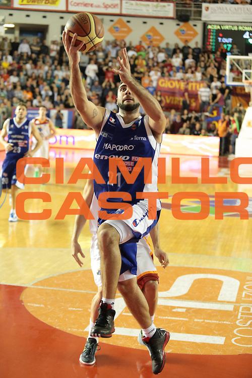 DESCRIZIONE : Roma Lega A 2012-2013 Acea Roma Lenovo Cantu playoff semifinale gara 2<br /> GIOCATORE : Pietro Aradori<br /> CATEGORIA : tiro equilibrio<br /> SQUADRA : Lenovo Cantu<br /> EVENTO : Campionato Lega A 2012-2013 playoff semifinale gara 2<br /> GARA : Acea Roma Lenovo Cantu<br /> DATA : 27/05/2013<br /> SPORT : Pallacanestro <br /> AUTORE : Agenzia Ciamillo-Castoria/M.Simoni<br /> Galleria : Lega Basket A 2012-2013  <br /> Fotonotizia : Roma Lega A 2012-2013 Acea Roma Lenovo Cantu playoff semifinale gara 2<br /> Predefinita :