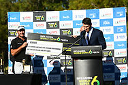 PERTH, AUSTRALIA - FEBRUARY 17: Ryan Fox (NZL) receiving his cheque on the 18th after the match play of the ISPS Handa World Super 6, Lake Karrinyup Country Club, Perth, Western Australia, on February 17, 2019. <br /> .<br /> .<br /> .<br /> (Photo by: Naratip Golf Srisupab/SEALs Sports Images)<br /> .<br /> Any image use must include a mandatory credit line adjacent to the content which should read: Naratip Golf Srisupab/SEALs Sports Images