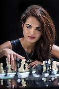 Tania Sachdev chess player of India poses for a portrait in Delhi, India on March 27th, 2015