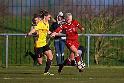 LIVERPOOL, ENGLAND - Sunday, February 4, 2018: Liverpool's Ali Johnson during the Women's FA Cup 4th Round match between Liverpool FC Ladies and Watford FC Ladies at Walton Hall Park. (Pic by David Rawcliffe/Propaganda)