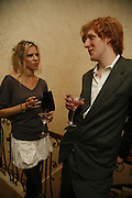 Alexandra Aitken and Robert Rivers, PARTY AFTER THE OPENING OF THE ANISH KAPOOR EXHIBITION AT THE LISSON GALLERY. Duchess Palace, 16 Mansfield St. London. W1. 10 October 2006. -DO NOT ARCHIVE-© Copyright Photograph by Dafydd Jones 66 Stockwell Park Rd. London SW9 0DA Tel 020 7733 0108 www.dafjones.com