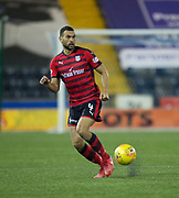 13th February 2018, Rugby Park, Kilmarnock, Scotland; Scottish Premiership football, Kilmarnock versus Dundee; Steven Caulker of Dundee