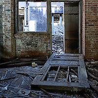 A broken down door