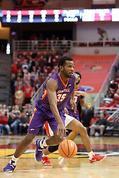 03 February 2018:  John Hall during a College mens basketball game between the Evansville Purple Aces and Illinois State Redbirds in Redbird Arena, Normal IL