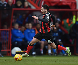 Bournemouth's Adam Smith in action during the Sky Bet Championship match between AFC Bournemouth and Huddersfield Town at Goldsands Stadium on 14 February 2015 in Bournemouth, England - Photo mandatory by-line: Paul Knight/JMP - Mobile: 07966 386802 - 14/02/2015 - SPORT - Football - Bournemouth - Goldsands Stadium - AFC Bournemouth v Huddersfield Town - Sky Bet Championship