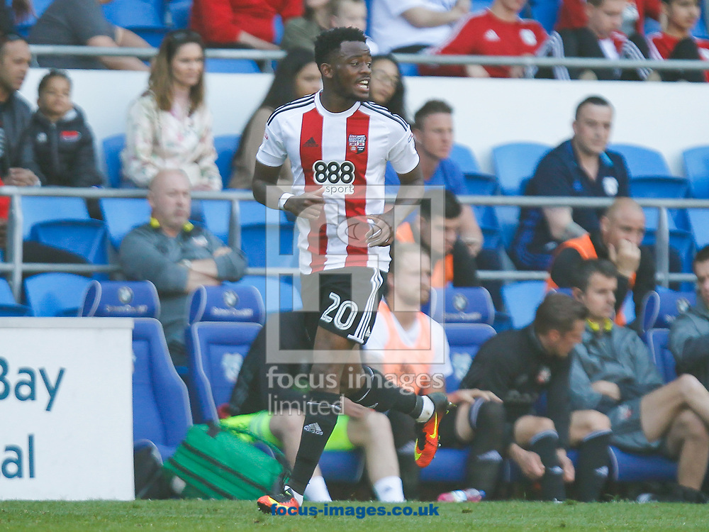 Josh Clarke of Brentford during the Sky Bet Championship match between Cardiff City and Brentford at the Cardiff City Stadium, Cardiff<br /> Picture by Mark D Fuller/Focus Images Ltd +44 7774 216216<br /> 08/04/2017