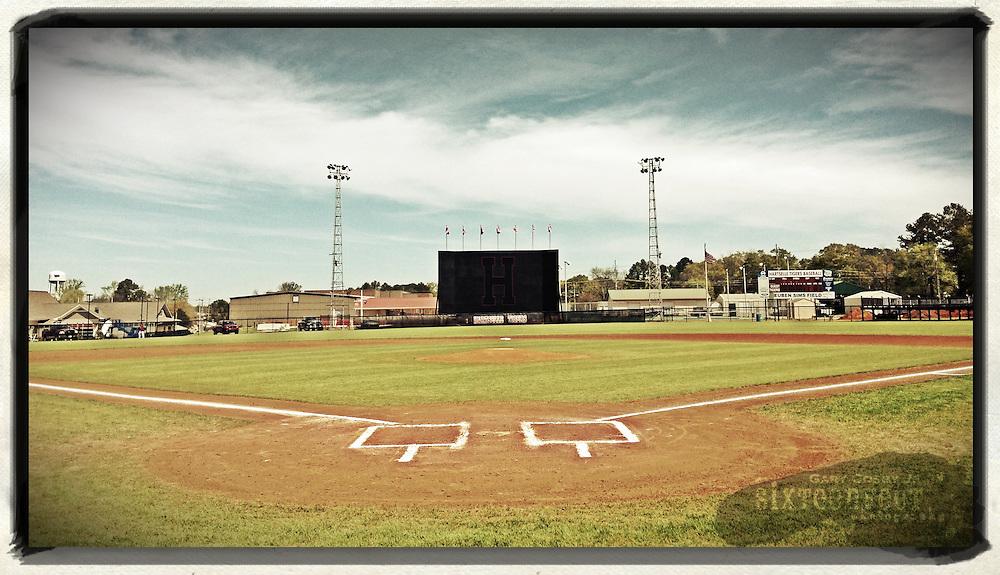 Gary Cosby Jr.  iPhone photographs<br /> A baseball diamond in Hartselle, Alabama.