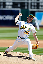 OAKLAND, CA - APRIL 17:  Chris Bassitt #40 of the Oakland Athletics pitches against the Kansas City Royals during the second inning at the Oakland Coliseum on April 17, 2016 in Oakland, California. (Photo by Jason O. Watson/Getty Images) *** Local Caption *** Chris Bassitt