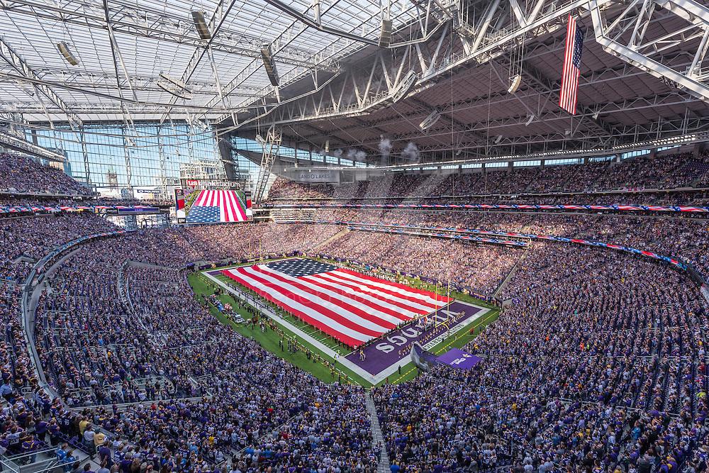 Minnesota Vikings vs. Detroit Lions on November 6, 2016 at U.S. Bank Stadium in Minneapolis, Minnesota.  Photo by Ben Krause/Minnesota Vikings