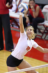15 SEP 2009: Angela Rego attacks from the left side. The Redbirds of Illinois State defeated the Cougars of Southern Illinois Edwardsville in 3 sets during play in the Redbird Classic on Doug Collins Court inside Redbird Arena in Normal Illinois
