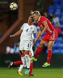 Anna Kozhnikova of Russia challenges Jordan Nobbs of England - Mandatory by-line: Matt McNulty/JMP - 19/09/2017 - FOOTBALL - Prenton Park - Birkenhead, United Kingdom - England v Russia - FIFA Women's World Cup Qualifier