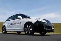 Nissan EV-11 Electric car at the company Grand Drive circuit in Yokohama near Tokyo, Japan.