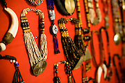 Jewelry at the Village Artisanal de Ouagadougou, a cooperative that employs dozens of artisans who work in different mediums, in Ouagadougou, Burkina Faso, on Monday November 3, 2008.
