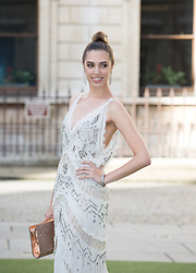 Image ©Licensed to i-Images Picture Agency. 04/06/2014. London, United Kingdom. Royal Academy Summer Exhibition Preview Party. Amber Le Bon arrives to the Summer Exhibition Preview Party at the Royal Academy of Arts. Picture by Daniel Leal-Olivas / i-Images