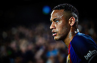 BARCELONA, SPAIN - OCTOBER 29:  (EDITORS NOTE: This image has been processed using digitals filters.)  Neymar JR of FC Barcelona looks on during the La Liga match between FC Barcelona and Granada at Camp Nou stadium on October 29, 2016 in Barcelona, Spain.  (Photo by Manuel Queimadelos Alonso/Getty Images)
