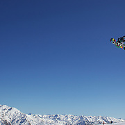 Marte Soderlund, Norway, in action during the Snowboard Slopestyle Ladies competition at Snow Park, New Zealand during the Winter Games. Wanaka, New Zealand, 21st August 2011. Photo Tim Clayton