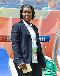 26.06.2011, Rhein-Neckar-Arena, Sinsheim, GER, FIFA Women´s Worldcup 2011, GRUPPE A, NIGERIA (NGA) vs FRANKREICH (FRA) , im Bild Headcoach Ngozi UCHE (Headcoach / Trainer NGA)  // during the FIFA Women´s Worldcup 2011, Pool A, Nigeria (NGA) vs France (FRA) on 2011/06/26, Rhein-Neckar-Arena, Sinsheim, Germany. EXPA Pictures © 2011, PhotoCredit: EXPA/ nph/  Roth       ****** out of GER / SWE / CRO  / BEL ******