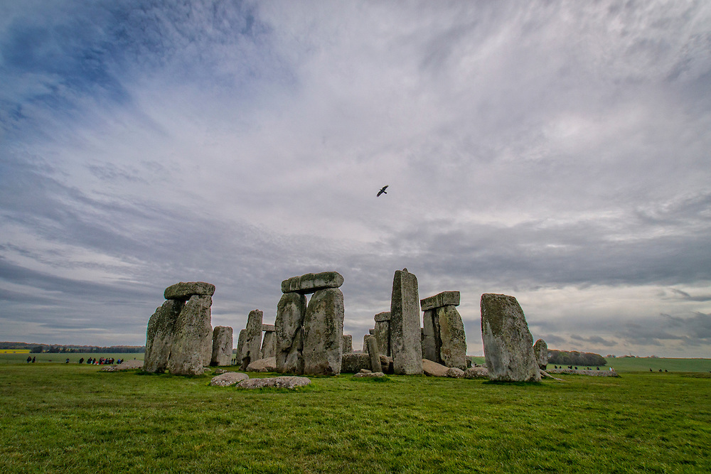 Stonehenge is a prehistoric monument made up of standing stones.  It is located just north of Salisbury, England in Wiltshire.
