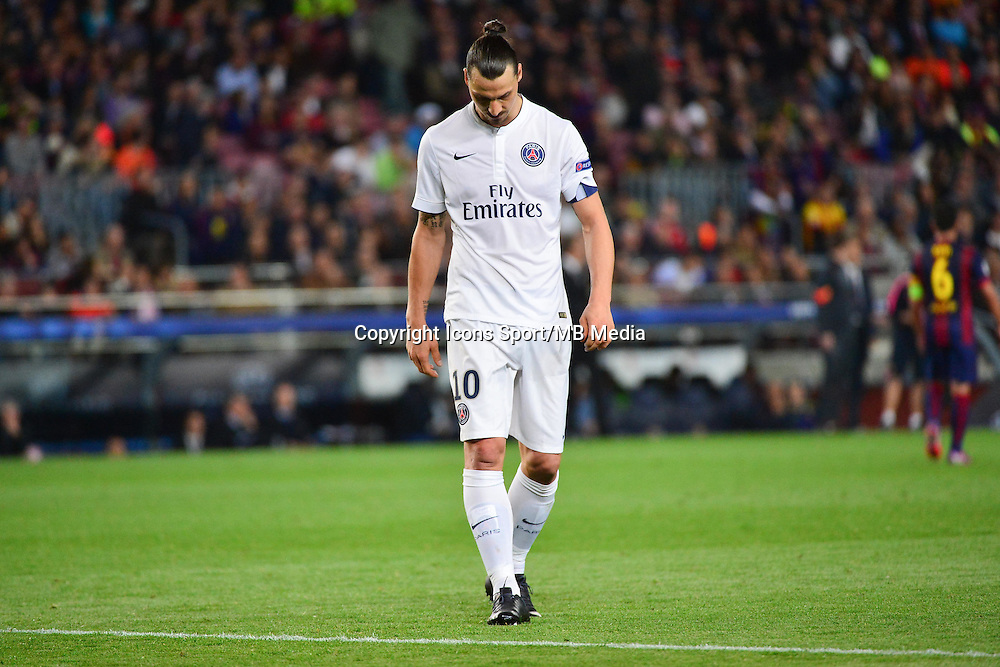 Deception Zlatan IBRAHIMOVIC - 21.04.2015 - Barcelone / Paris Saint Germain - 1/4Finale Retour Champions League<br />