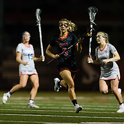 23 March 2018: San Diego State Aztecs midfielder Mackenzie Lech brings the ball down the field in the second half. The Aztecs beat the Lady Flames 11-10 Friday night. <br /> More game action at sdsuaztecphotos.com