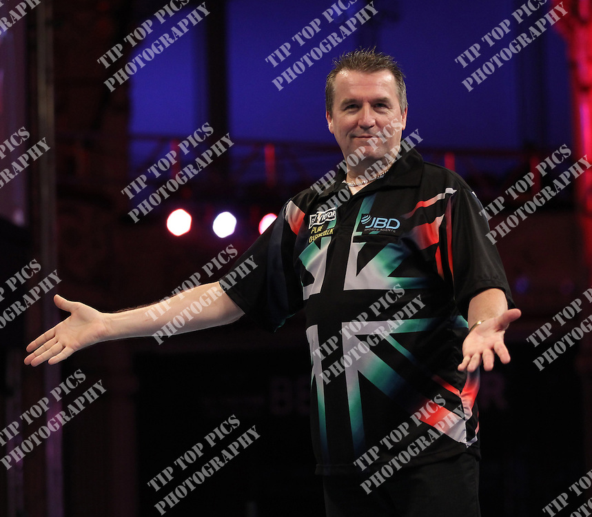 PDC WORLD MATCHPLAY 2014,RONNIE BAXTER,<br /> PIC CHRIS SARGEANT,<br /> TIPTOPPICS