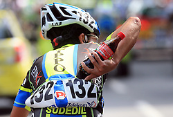 Takahiro Yamashita of Japan (Nippo Endeka) drink Coca Cola during 1st stage of the 15th Tour de Slovenie from Ljubljana to Postojna (161 km) , on June 11,2008, Slovenia. (Photo by Vid Ponikvar / Sportal Images)/ Sportida)