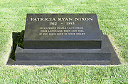 First Lady Patricia Nixon Headstone at Nixon Library and Museum Yorba Linda