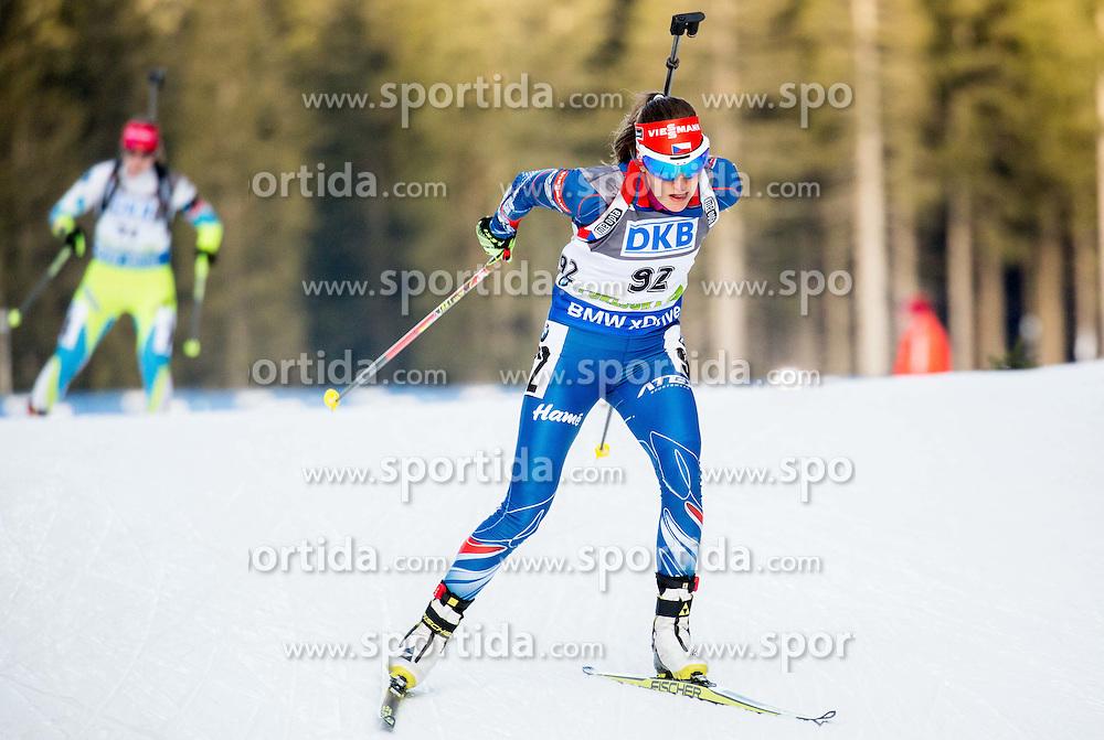 Jitka Landova (CZE) competes during Women 7,5 km Sprint at day 2 of IBU Biathlon World Cup 2015/16 Pokljuka, on December 18, 2015 in Rudno polje, Pokljuka, Slovenia. Photo by Vid Ponikvar / Sportida