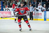 KELOWNA, CANADA - OCTOBER 3: Austin Glover #20 of the Kelowna Rockets skates on the ice against the Vancouver Giants at the Kelowna Rockets on October 3, 2012 at Prospera Place in Kelowna, British Columbia, Canada (Photo by Marissa Baecker/Getty Images) *** Local Caption *** Austin Glover;