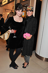 Left to right, GIZZI ERSKINE and GRACE WOODWARD at the launch of the new John Lewis Beauty Hall, John Lewis, Oxford Street, London on 8th May 2012.