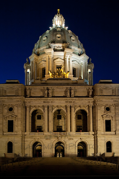 An abstraction of the Minnesota State Capital Building in St. Paul.