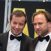 NLD/Amsterdam/20140508 - Wereldpremiere Musical Anne, Peter van der Vorst en partner Sander Scheurs