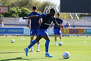 AFC Wimbledon defender Paul Osew (37) warming up during the EFL Sky Bet League 1 match between AFC Wimbledon and Bristol Rovers at the Cherry Red Records Stadium, Kingston, England on 21 September 2019.