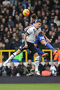 Tottenham Hotspur defender Kyle Walker and Chelsea defender Cesar Azpilicueta during the Barclays Premier League match between Tottenham Hotspur and Chelsea at White Hart Lane, London, England on 29 November 2015. Photo by Alan Franklin.